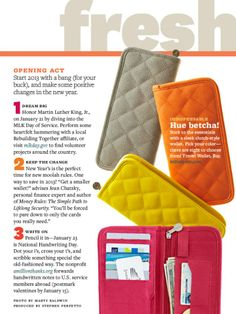 Initials Inc. Travel Wallet - featured as a quick clutter cure by Better Homes and Gardens