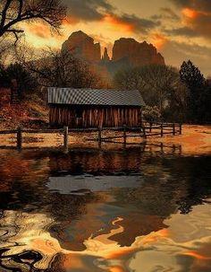 Barn..Beautiful Colors by Asmodel