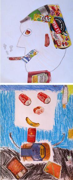 Divertidos collages realizados con productos alimenticios. Colegio Alameda de Osuna. (5º de EP)