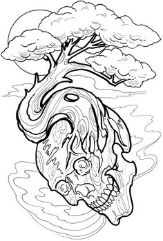 √ 27 Tattoo Coloring Book Pages Tattoo Coloring Book, Skull Coloring Pages, Coloring Pages To Print, Printable Coloring Pages, Colouring Pages, Coloring Books, Coloring Sheets, Coloring Pages For Grown Ups, Adult Coloring Book Pages