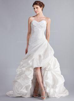 Wedding Dresses - $176.99 - A-Line/Princess Sweetheart Asymmetrical Taffeta Wedding Dress With Ruffle (002025339) http://jjshouse.com/A-Line-Princess-Sweetheart-Asymmetrical-Taffeta-Wedding-Dress-With-Ruffle-002025339-g25339