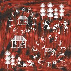 Warli Life Painting