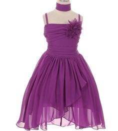 70b79e8c564 Matilda - Orchid Chiffon Flower Girl Dress