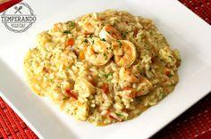 Receita detalhada de como preparar um delicioso risoto de camarão com vídeo do passo a passo para não ter erro!