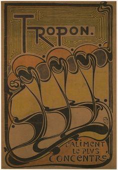 """Henry van de Velde 1898 """"Tropon."""""""