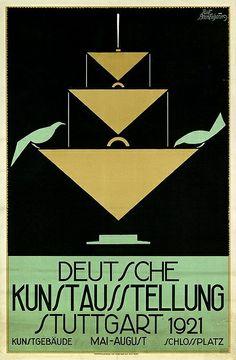 Germany. 1921 Poster // Artist : Rudolf Brackenhammer