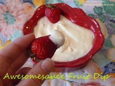 Tormented Kitchen: Awesomesauce Fruit Dip Very Hungry, What's Cooking, What To Cook, Dips, Easy Meals, Pudding, Fruit, Kitchen, Desserts
