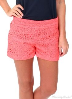 First Love Coral Shorts