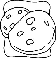 Chocolate Cookies Coloring Page Disabilities Pinterest