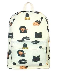 I usually think emoji apparel is tacky, like the tights, etc but this backpack is super cute! :)