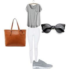 plain by maikehofman on Polyvore featuring polyvore fashion style Topshop NIKE Fiorelli