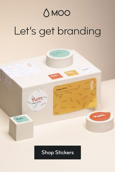 Create Stickers online with MOO. Choose from rectangular, square or round stickers for your business. Design custom labels that will get you noticed. Packaging Stickers, Soap Packaging, Personalized Stickers, Custom Stickers, Sticker Shop, Sticker Design, Business Stickers, Funky Home Decor, Food Packaging Design