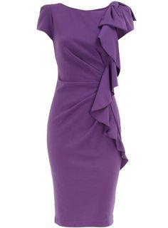 Violet frill front dress  Price:$57.00  Color:purple  Item code:12209772