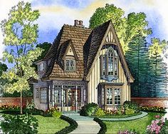 Adorable Cottage - 43000PF | Cottage, European, Tudor, Victorian, Narrow Lot, Photo Gallery, 2nd Floor Master Suite, PDF | Architectural Designs