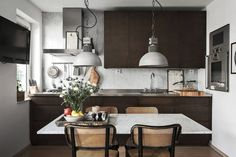 Scandinavian Decor Ideas To Design Home Interiors Room Interior Design, Kitchen Remodel, Kitchen Design, House Design, My Scandinavian Home, Kitchen Dining, Kitchen Styling, Industrial Style Kitchen, Apartment Interior
