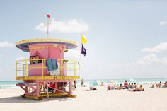 Miami; the trick to spend the day there, w/out getting too burnt: camp it out under the lifeguard shack. ; ]