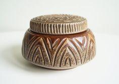 Small Bowl with Lid Ceramic Bowl Sugar Bowl Sugar Jar Ceramic Jewellery Box Mid Century Danish Pottery