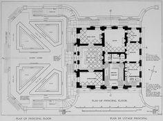 Plan of the main floor of the Petit Trianon, Versailles