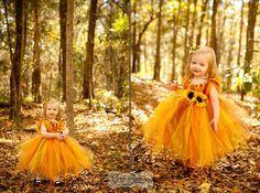 Fall tutu dress for an Autumn Princess size by AllDressedUpCouture, $40.00
