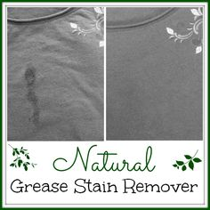 Welcome to living Green & Frugally. We aim to provide all your natural and frugal needs with lots of great tips and advice, How To Remove Grease Stains Using Natural Ingredients Homemade Cleaning Products, Cleaning Recipes, Natural Cleaning Products, Cleaning Hacks, Cleaning Solutions, Deep Cleaning, Cleaning Supplies, Laundry Solutions, Natural Products