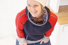 Hoodies - Hoody Kirsten mit Anker! - ein Designerstück von -byme- bei DaWanda
