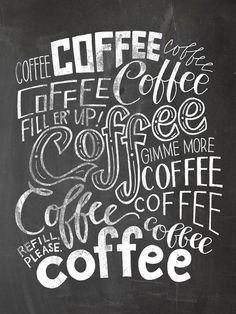 Chalkboard Coffee Love Art Print by Jasmine Nora Jones Coffee Chalkboard, Chalkboard Fonts, Kitchen Chalkboard, Coffee Menu, Coffee Signs, Kitchen Letters, Rustic Barn Decor, Cafe Quotes, Coffee Jokes