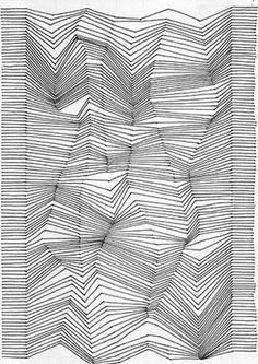 Lignes brisées relief 3D simple dessin