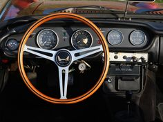1966 Honda S800 - wonderful steering wheel.