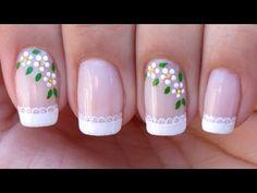 Frensh Nails, Nail Manicure, Manicures, Acrylic Nails, Nail Polish, Cute Pink Nails, Fancy Nails, Pretty Nails, Nail Art Designs Videos