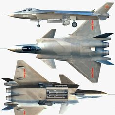 J-20 Stealth Fighter armament | chengdu j-20 3d obj - J-20... by luki82