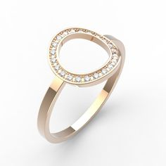 Sky - Bague Or rose 18 cts Diamant - Gemmyo