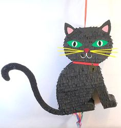 Piñata de Gato Negro - piñata personalizada Ideas Para Fiestas, Paper Mache, Selfies, Snoopy, Kitty, Halloween, Party Ideas, Character, Gatos