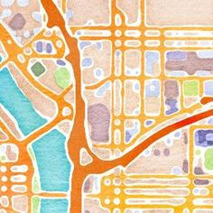 Watercolor map tiles by Stamen Design