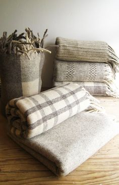CREAM CRUZ 100 Pure Virgin Wool Blanket/Throw/Sarape by mexchic, $70.00