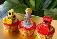 Bob the Builder Cupcakes-Regular by specialcakes/tracey, via Flickr
