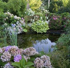Garden pond waterfall (22) #gardenponds