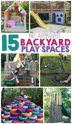I LOVE all of the amazing play spaces!
