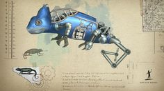 #Steampunk Tendencies | Steampunk Animal Wallpapers - Cameleon