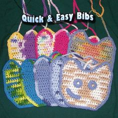 Crochet Baby Bib Patterns | Quick and Easy Crochet Pattern for Baby Bibs by daffodilbaby