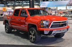 Lingenfelter and Southern Comfort Automotive unveiled their Chevy Reaper, a heavily modified, off-road ready version of the Chevy Silverado at today's Chicago Auto Show. Chevrolet Silverado, Silverado Truck, Chevrolet Tahoe, Chevrolet Trucks, 2014 Silverado, Chevy 4x4, Lifted Chevy, Lifted Trucks, Cool Trucks