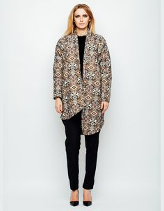 Jacheta asimetrica din brocard Boho Chic, Fashion, Moda, Fashion Styles, Fasion