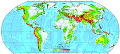 Global Seismic Hazard Map (active fault lines are more useful than inactive fault lines)