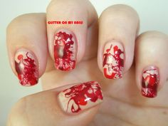 GLITTER ON MY NAILS: BLOODY NAILS