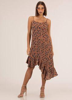 Missed A Spot Ruffled Leopard Dress LEOPARD - GoJane.com Latest Fashion Dresses, Latest Dress, Leopard Dress, Dress Styles, Special Occasion Dresses, Casual Dresses, Pretty, How To Wear, Women