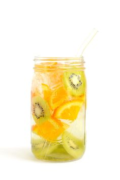 Orange-Kiwi Infused Water-Get in your daily water quota with this Fruit-Infused Water - 6 ways! From berries, to citrus, to cucumber and herbs, we've got you covered for refreshing drink recipes all summer long!