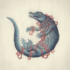 https://flic.kr/p/Dz1bcb | Crocodile. Graphite and watercolour on paper  #crocodile #art #illustration #