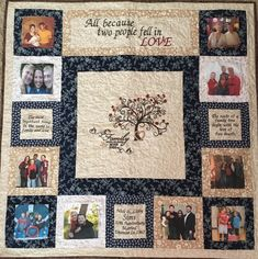 Family Tree Quilt, Family Tree Wall, Family Trees, Hanging Family Photos, Photo Quilts, Quilt Display, Photo Memories, Quilted Wall Hangings, Quilt Blocks