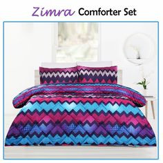 This beautiful Zimra Plum Comforter Set by Big Sleep is a perfect match for your decor that will add touch of style in your bedroom.