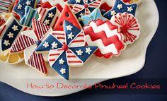 Decorated Pinwheel Cookies How-To Cookie Frosting, Royal Icing Cookies, Cupcake Cookies, Onesie Cookies, Fancy Cookies, Pinwheel Sugar Cookies, Cupcakes Decorados, Cookie Designs, Cookie Ideas