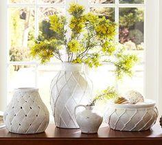 Sloane Ceramic Vases #potterybarn